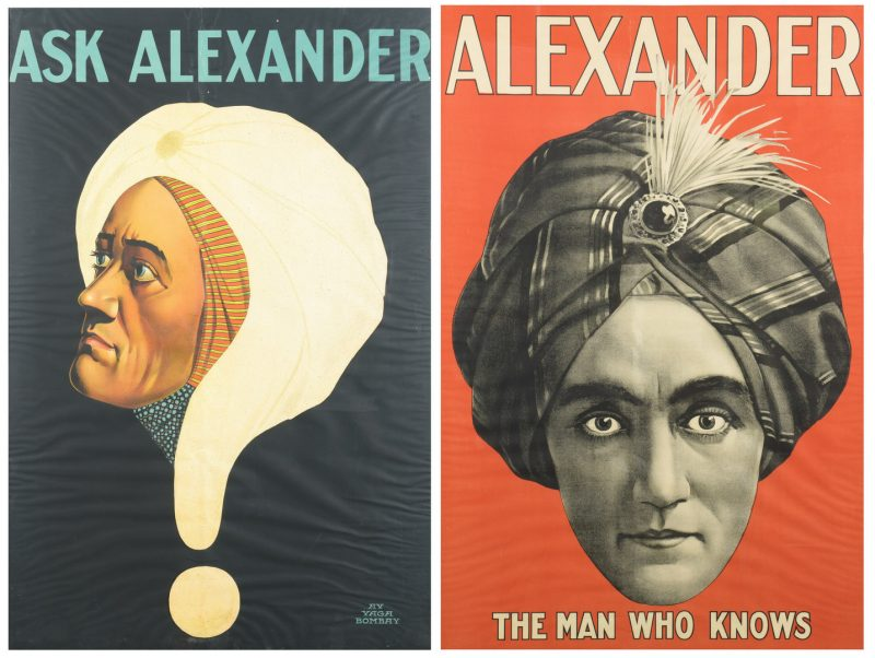 Lot 841: Pair Color Litho Magician Posters