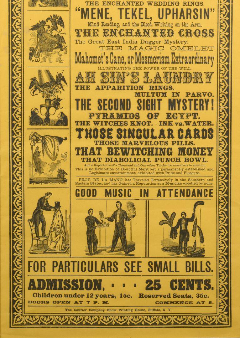 Lot 842: 4 Advertising Magic Posters