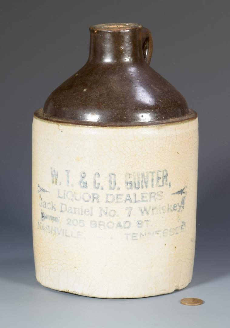 Lot 845: TN Whiskey Stoneware Advertising Jug, Gunter