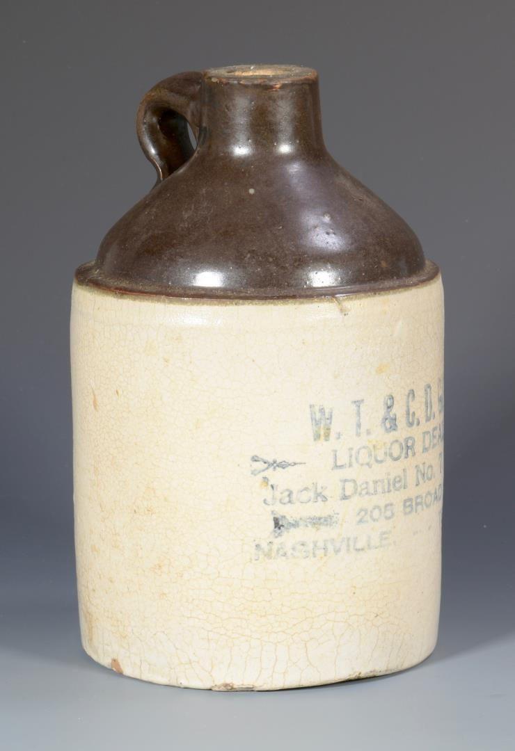 Lot 845: TN Whiskey Stoneware Advertising Jug, Gunter