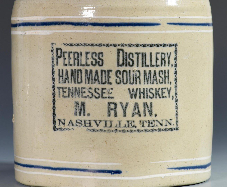Lot 846: 2 Whiskey Stoneware Advertising Jugs, KY & TN