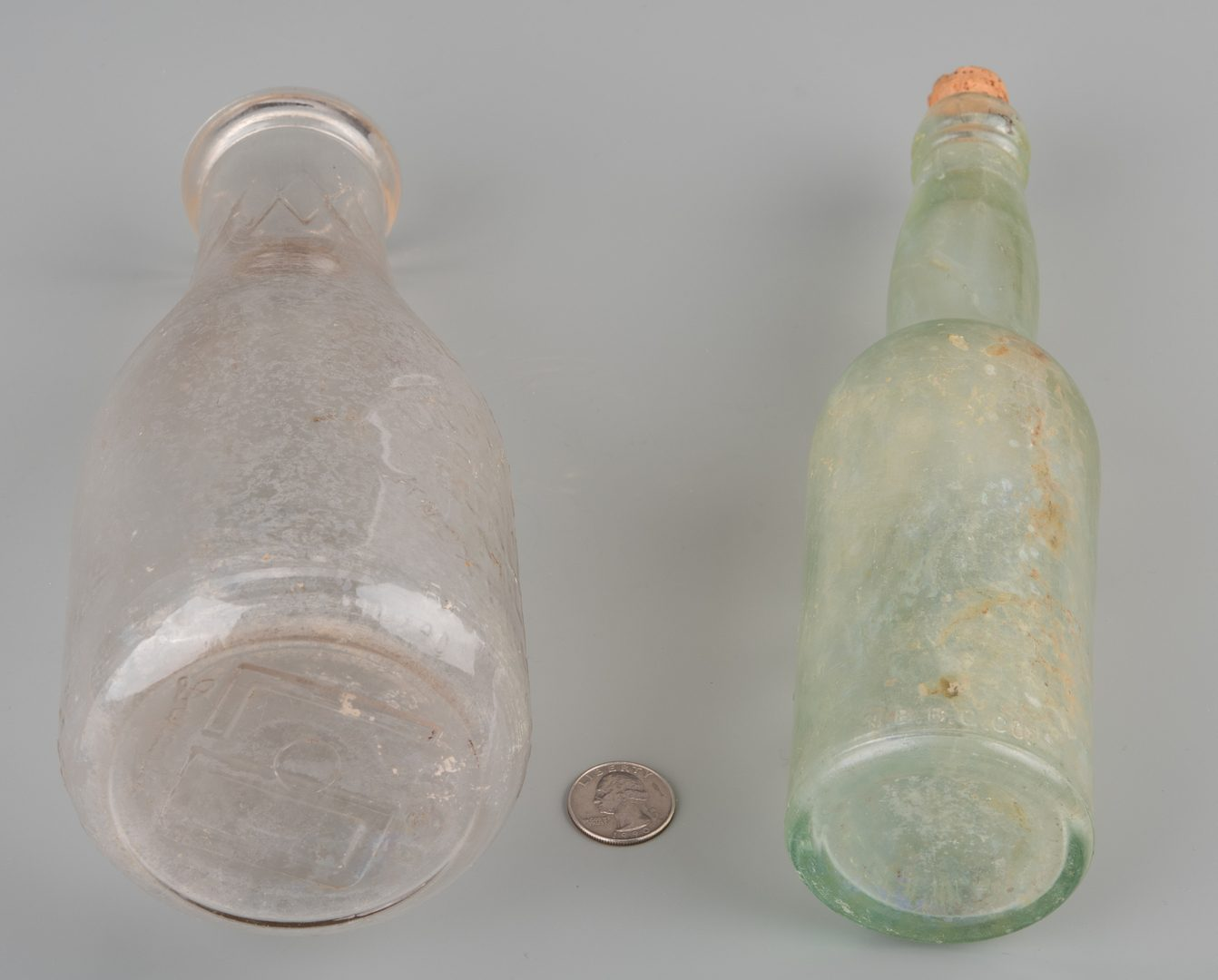 Lot 848: 2 East TN Bottles, inc. Knoxville Brewing Company and Livona Dairy