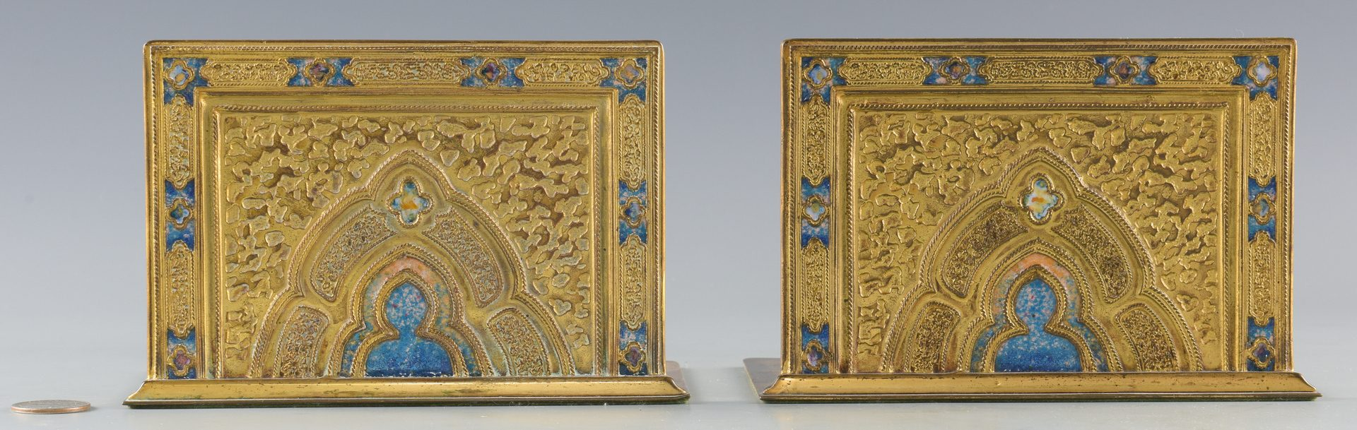 Lot 84: Pr. Tiffany Gilt Bronze Bookends
