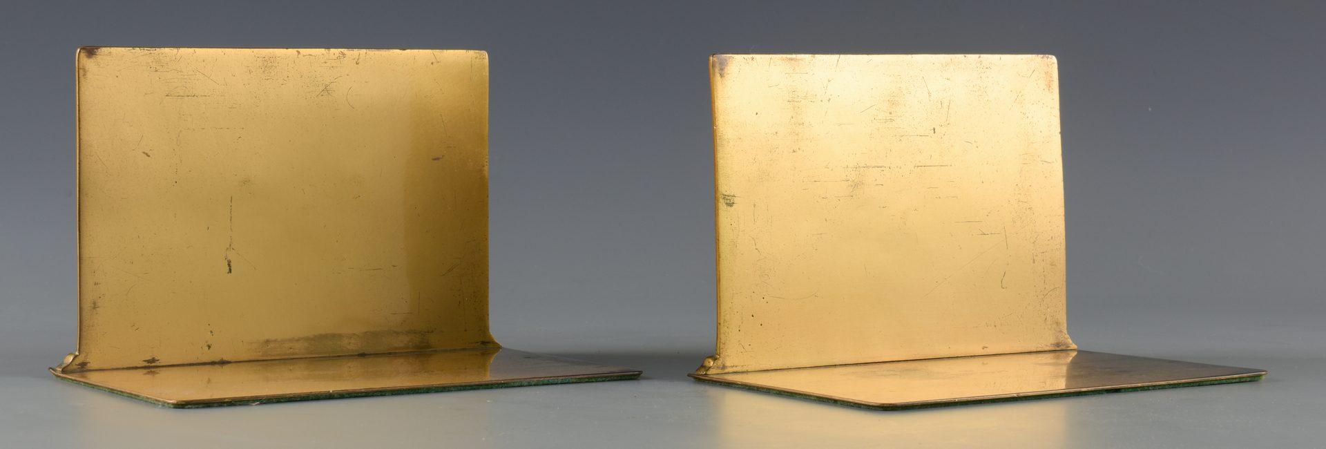 Lot 84: Pr. Tiffany Gilt Bronze Bookends