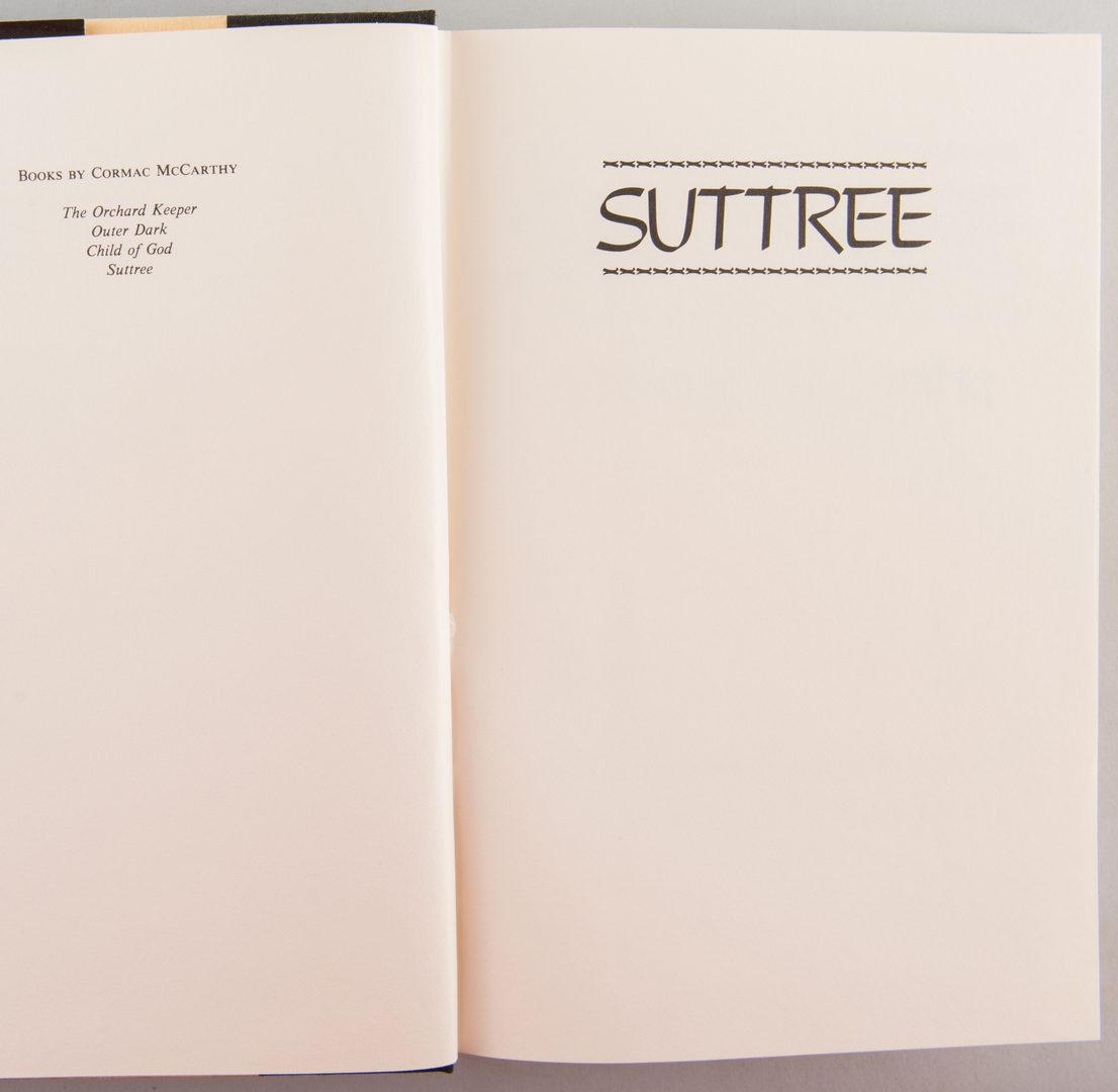 "Lot 851: Cormac McCarthy ""Suttree"" 1st Ed."