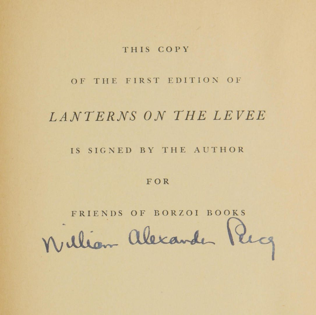 """Lot 853: William Percy """"Lanterns on the Levee"""" signed 1st edition"""