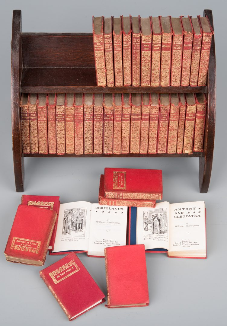 Lot 858: Miniature Book Set: Shakespeare's Complete Works