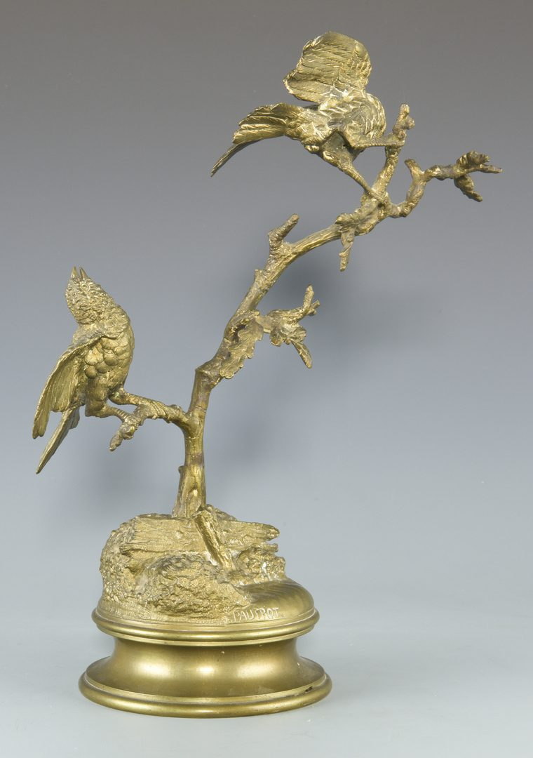 Lot 85: French F. Pautrot Bronze of Birds