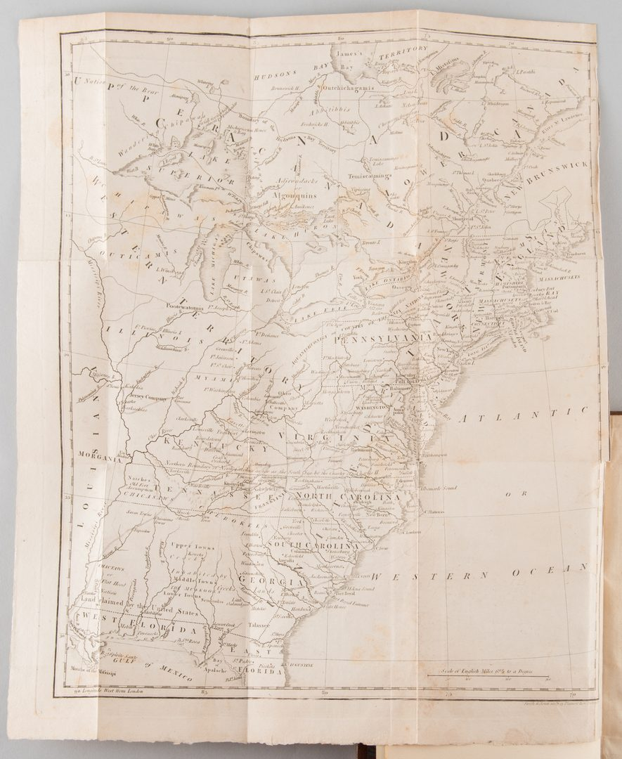 Lot 862: Michaux: Travels Allegany Ohio Tennessee w/ 1805 map