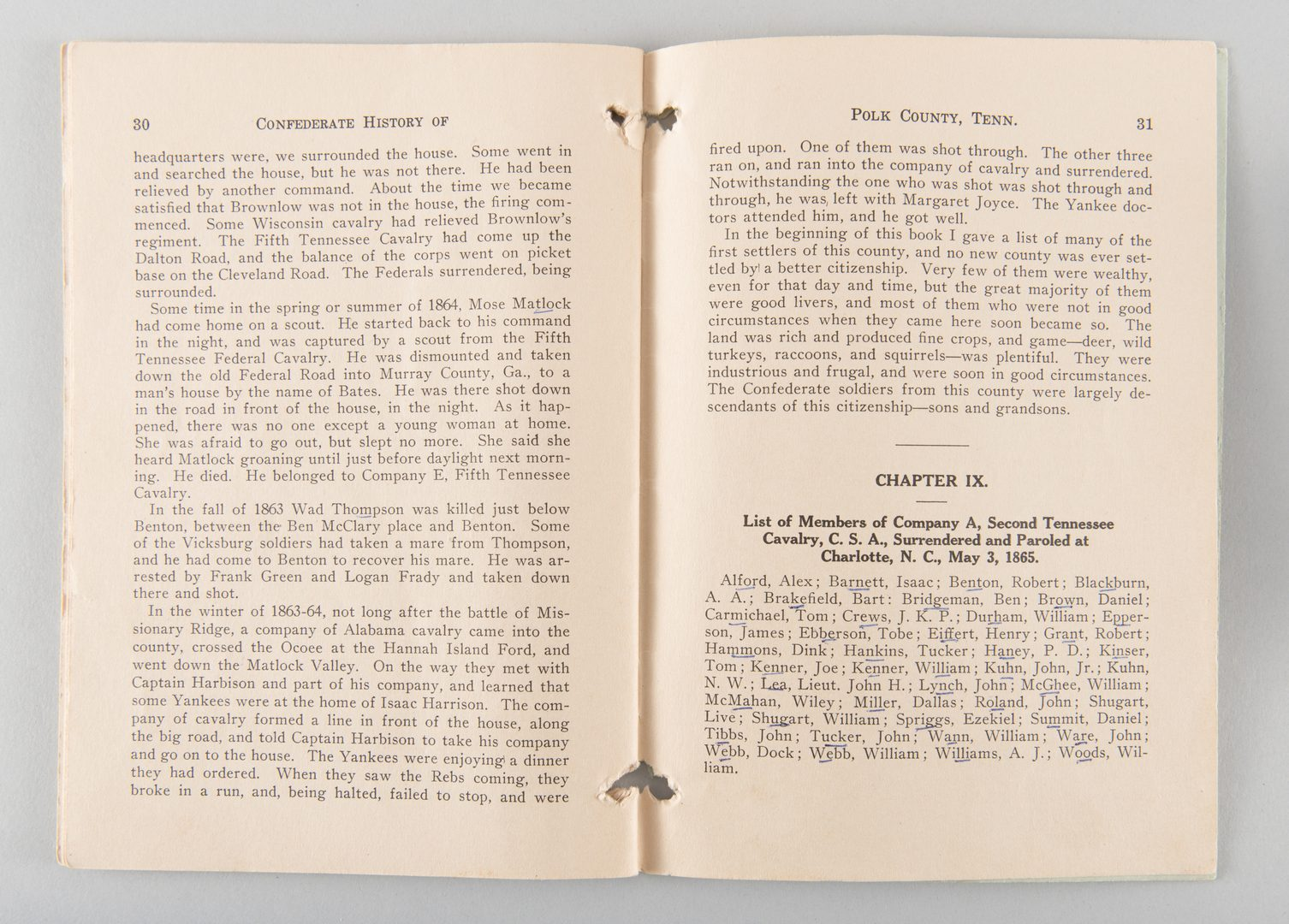 Lot 863: Confederate History of Polk Co 1923 and KKK book