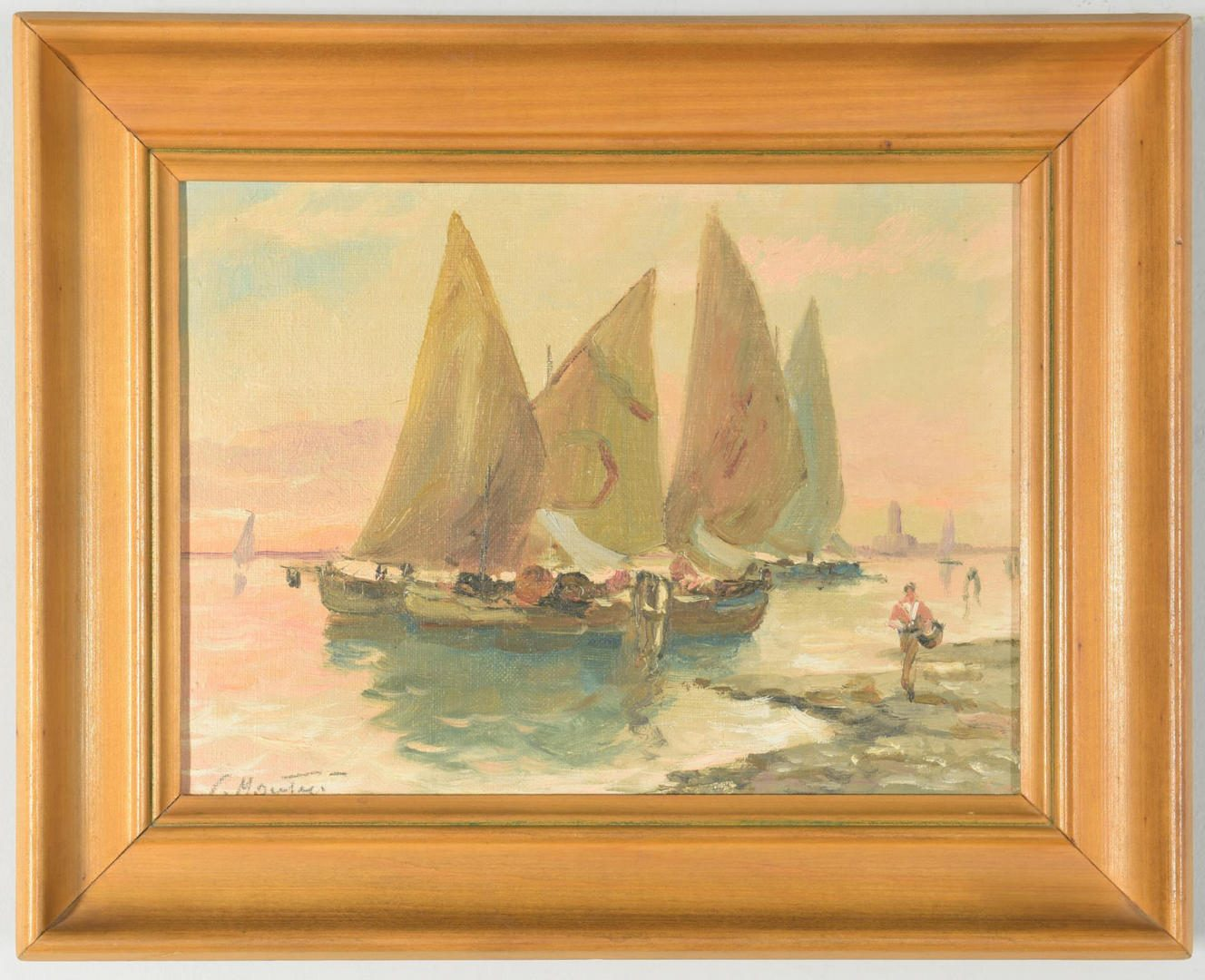Lot 873: 2 Italian Themed Landscape Paintings