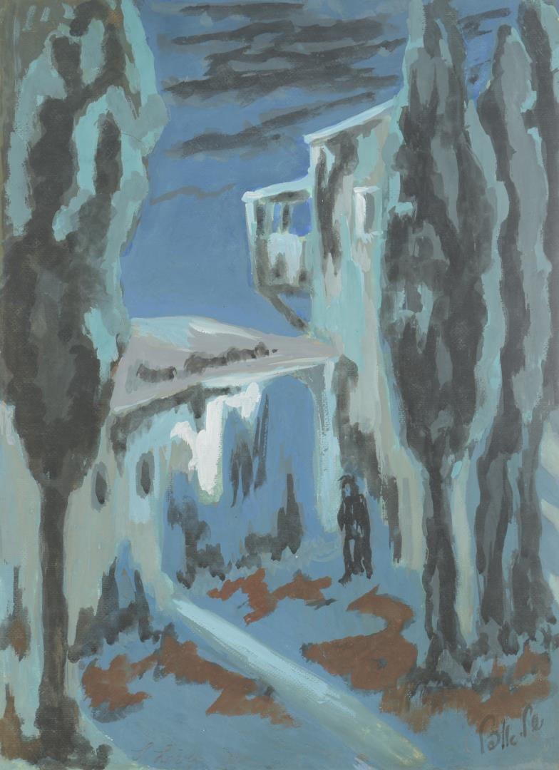 Lot 873: 2 Italian Themed Landscape Paintings