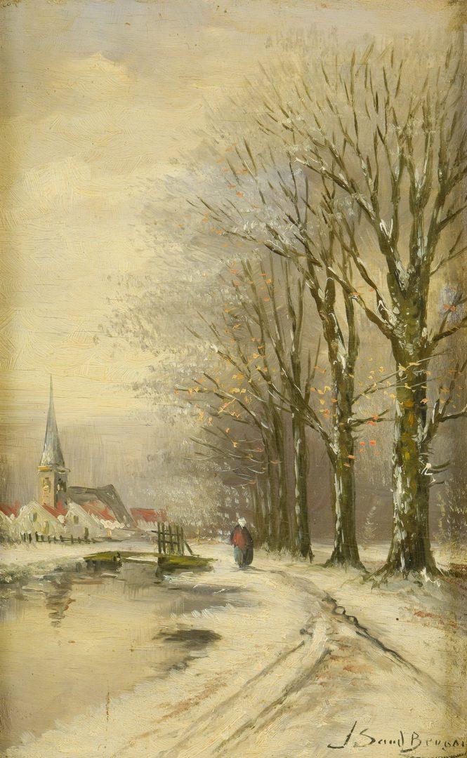 Lot 875: 2 European Oil Paintings