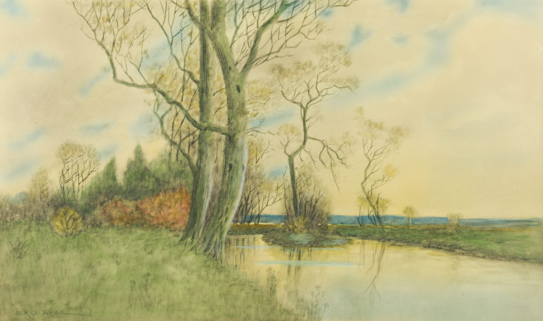 Lot 876: 2 Samuel Chaffee Watercolor Landscapes