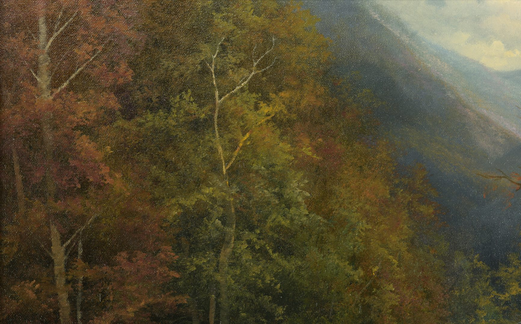 Lot 877: Ron Williams Oil on Canvas Landscape