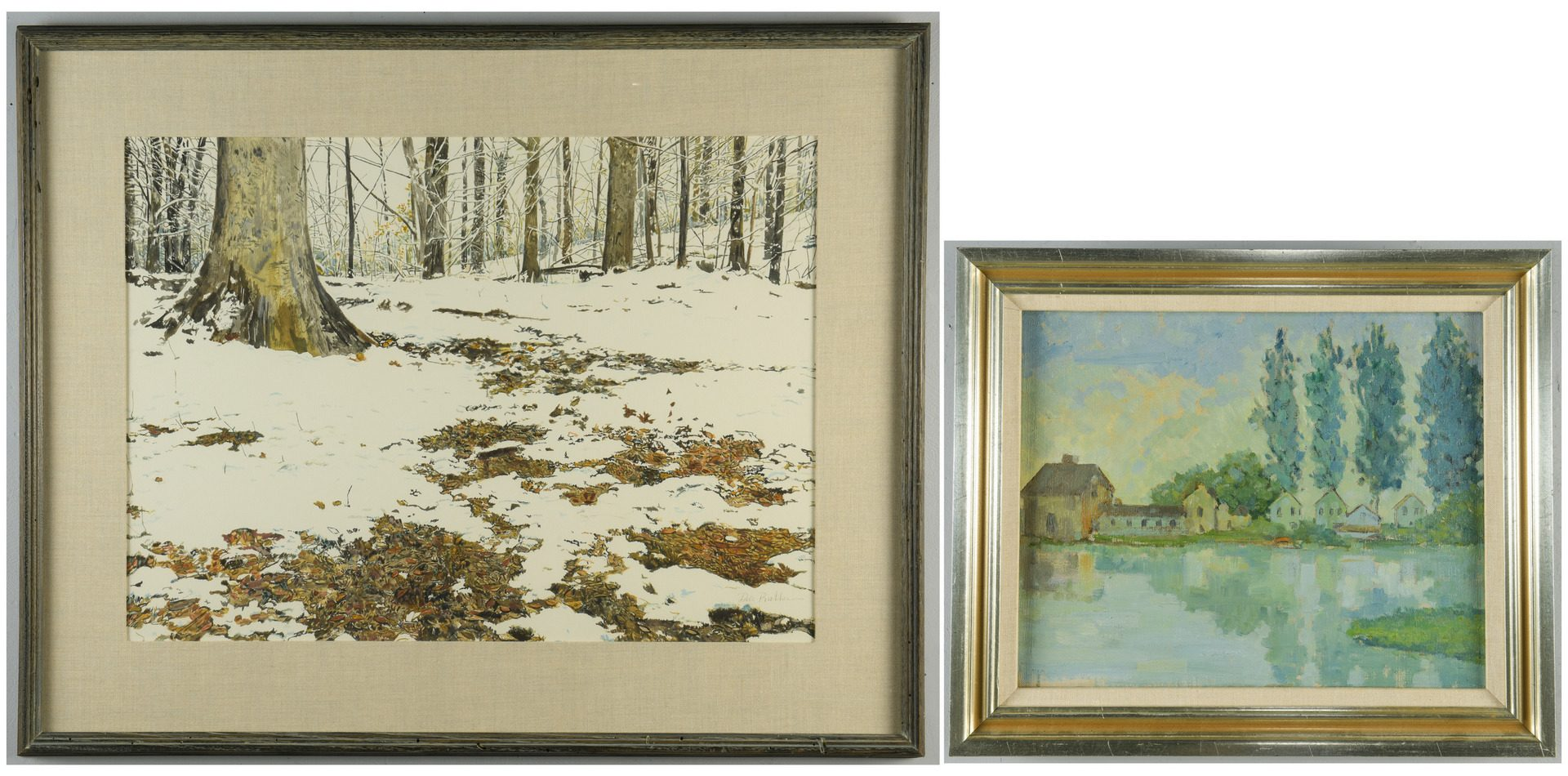 Lot 878: Two Landscapes inc. Dale Bratcher
