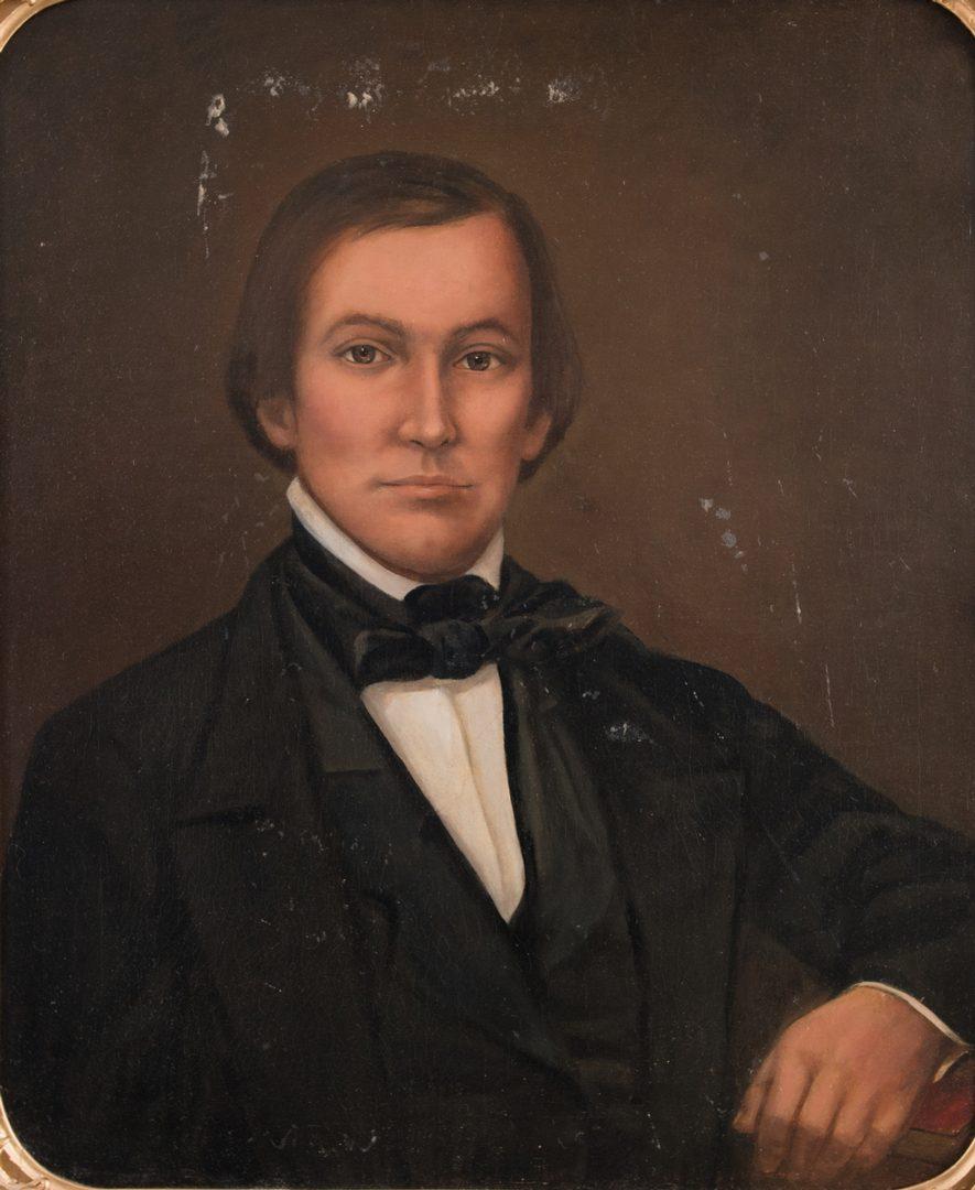 Lot 879: Attr. W.B. Cooper, 2 Portraits, Robertson Family