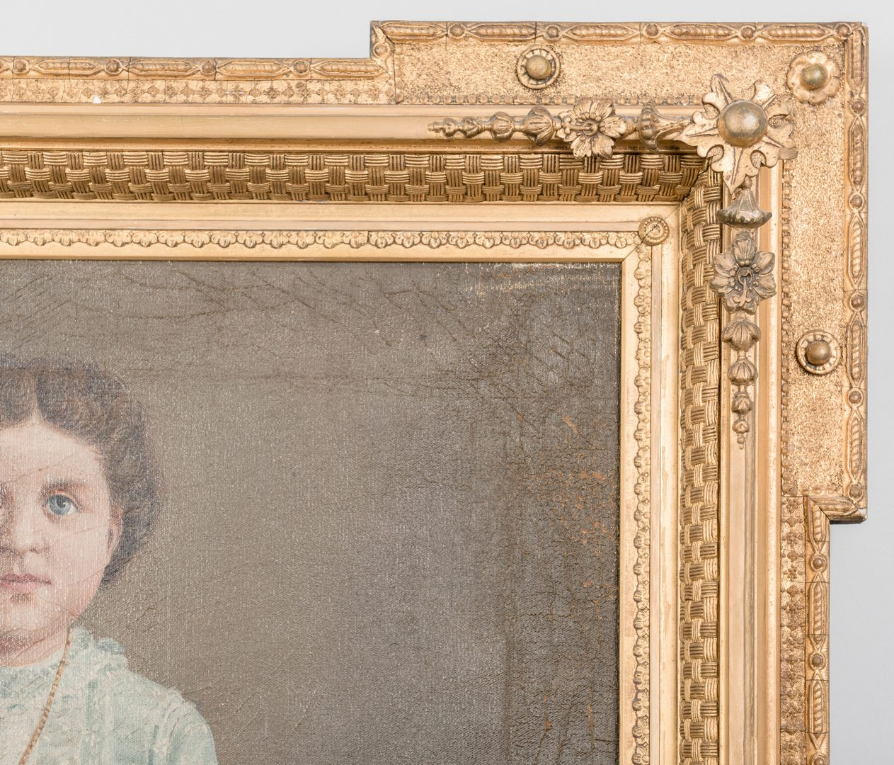 Lot 880: Child portrait in Aesthetic Frame