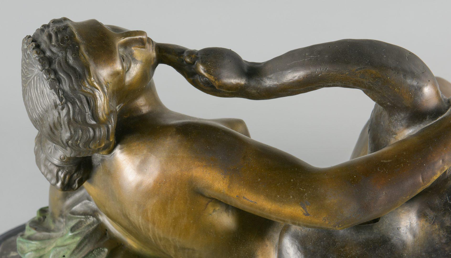 Lot 881: After Clevinger, Bronze Leda Swan