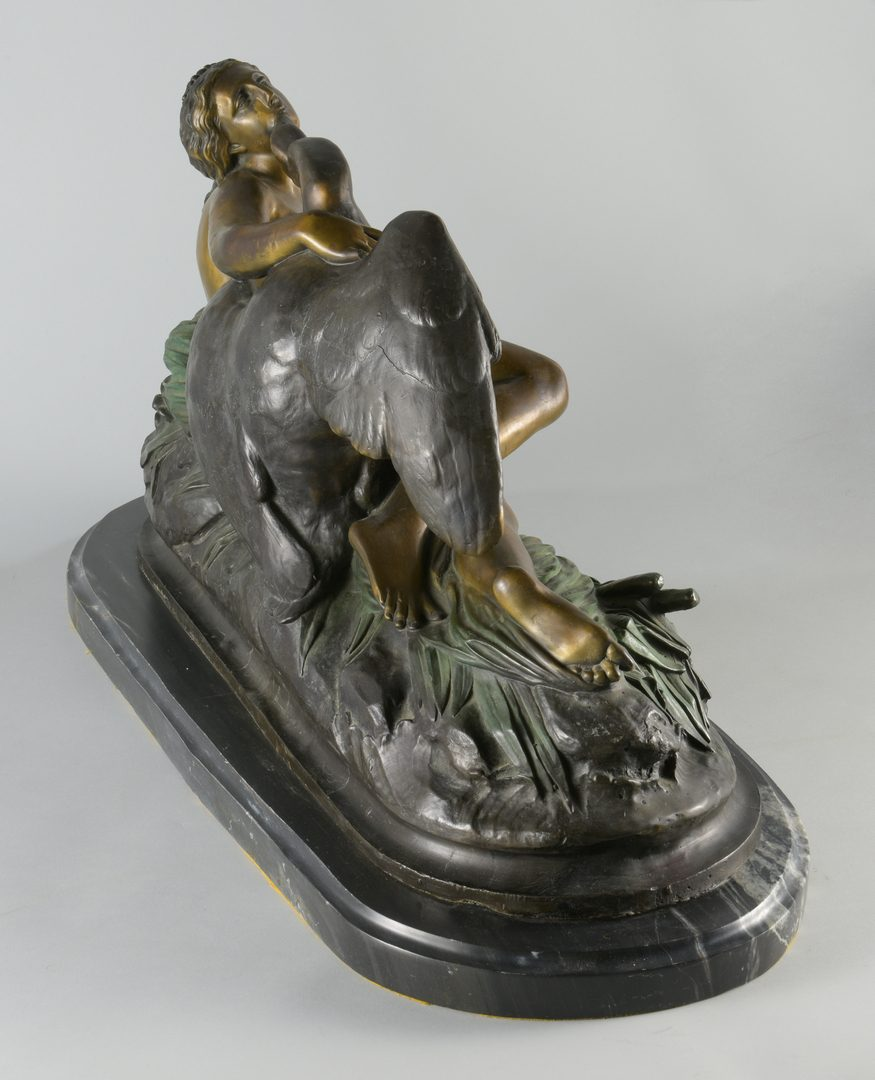 Lot 881: After Clevinger, Bronze Leda Swan