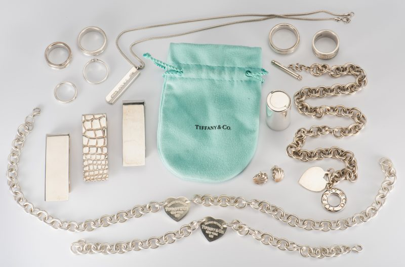Lot 883: Group Tiffany Sterling Designer Jewelry