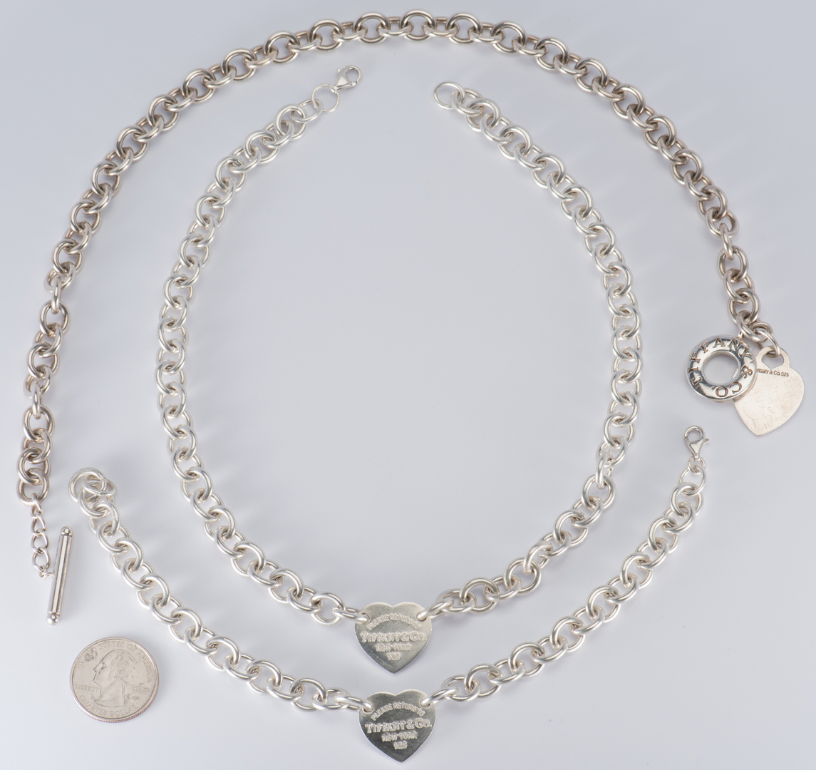 Lot 883 Group Tiffany Sterling Designer Jewelry