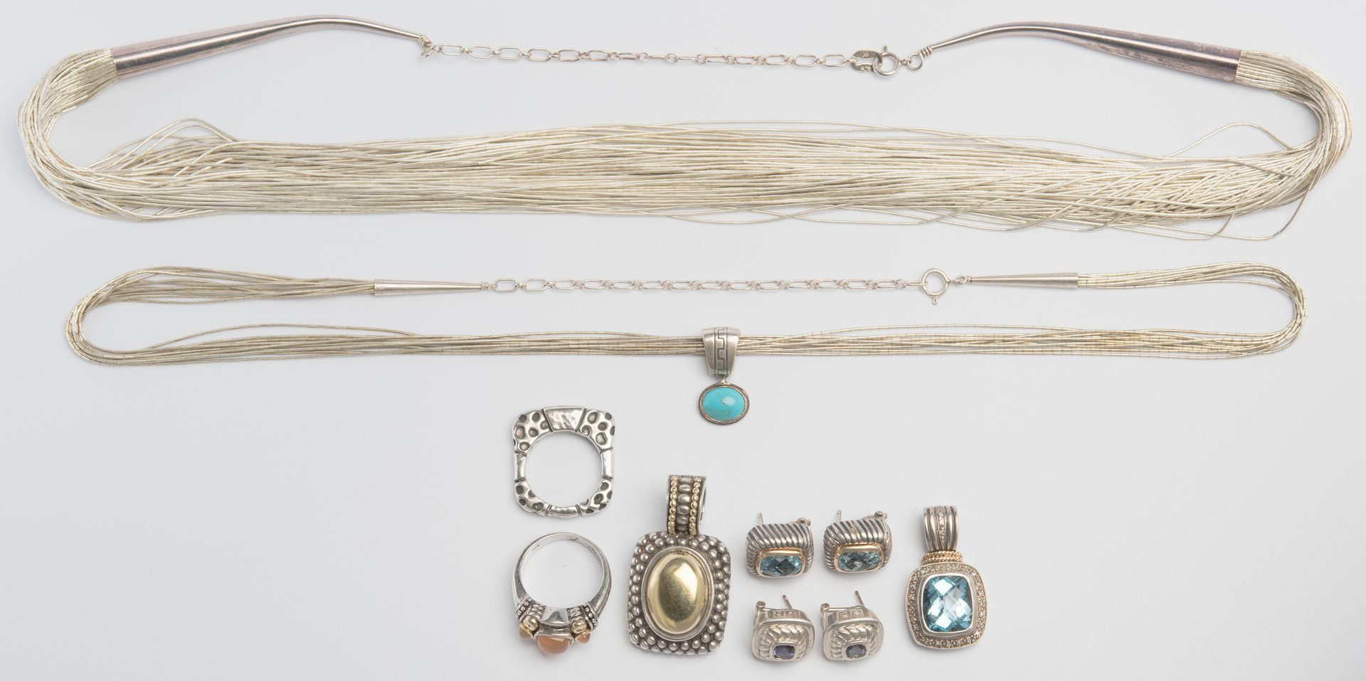 Lot 884: Sterling and Gold Designer Jewelry