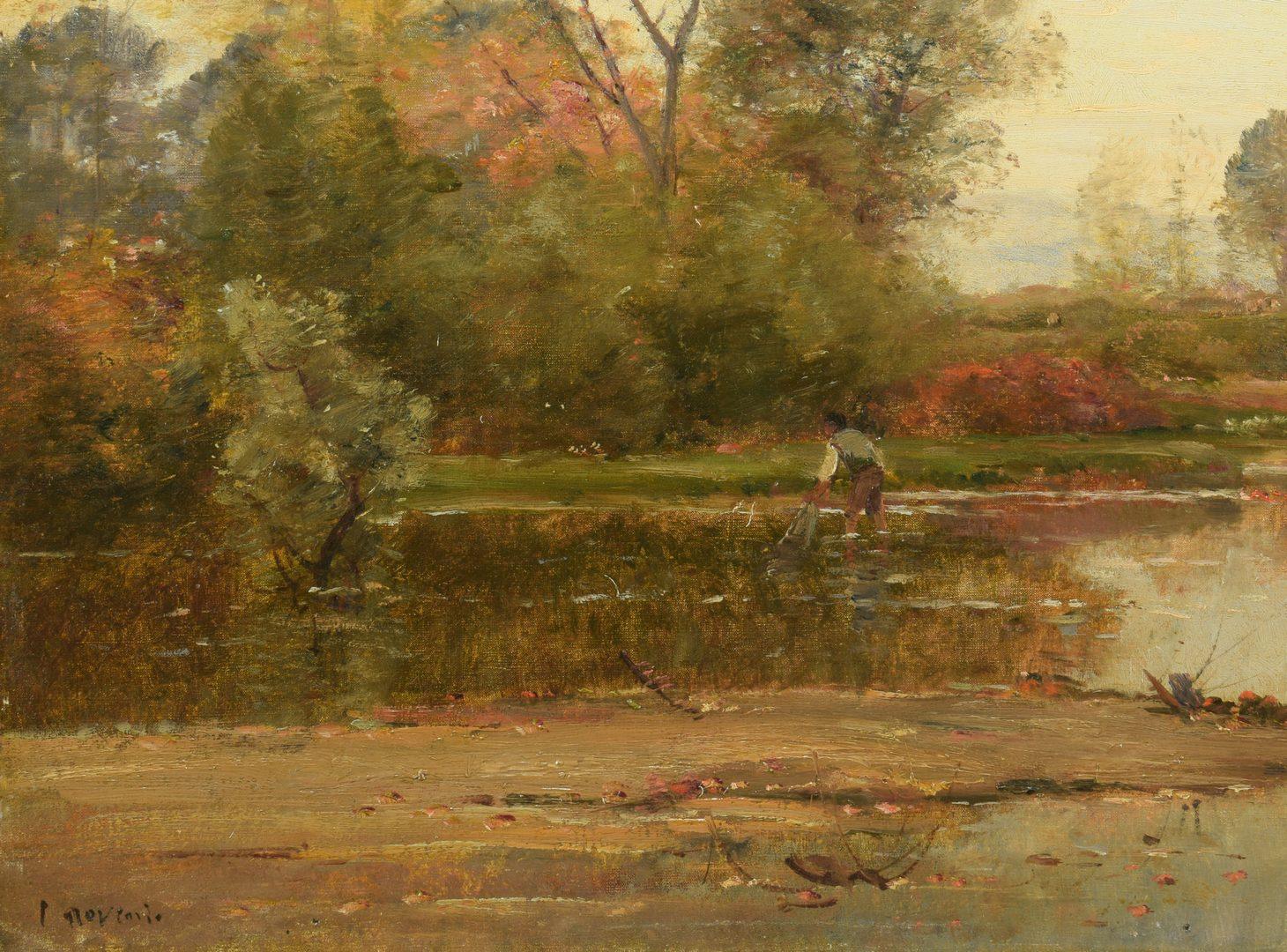 Lot 88: Louis Aime Japy Oil on Canvas Landscape