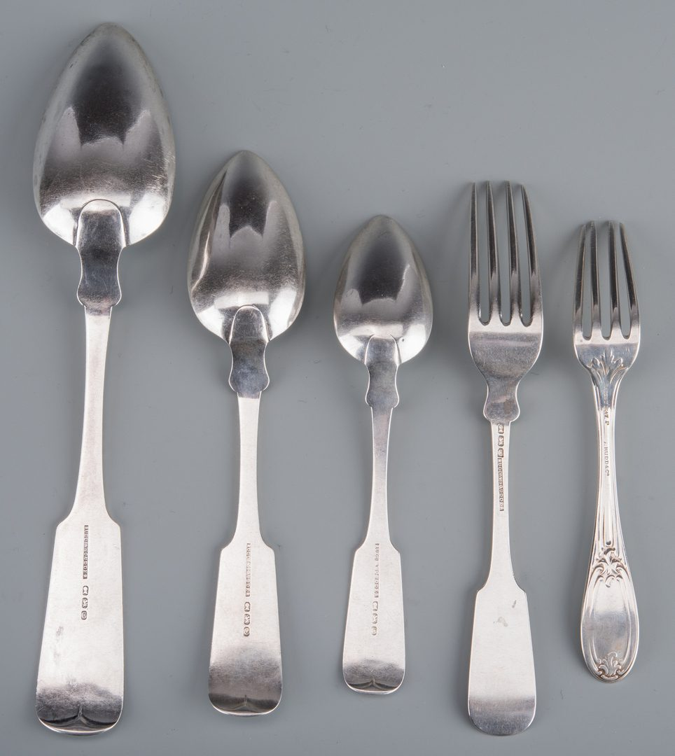 Lot 896: Group of NY Coin Silver Flatware