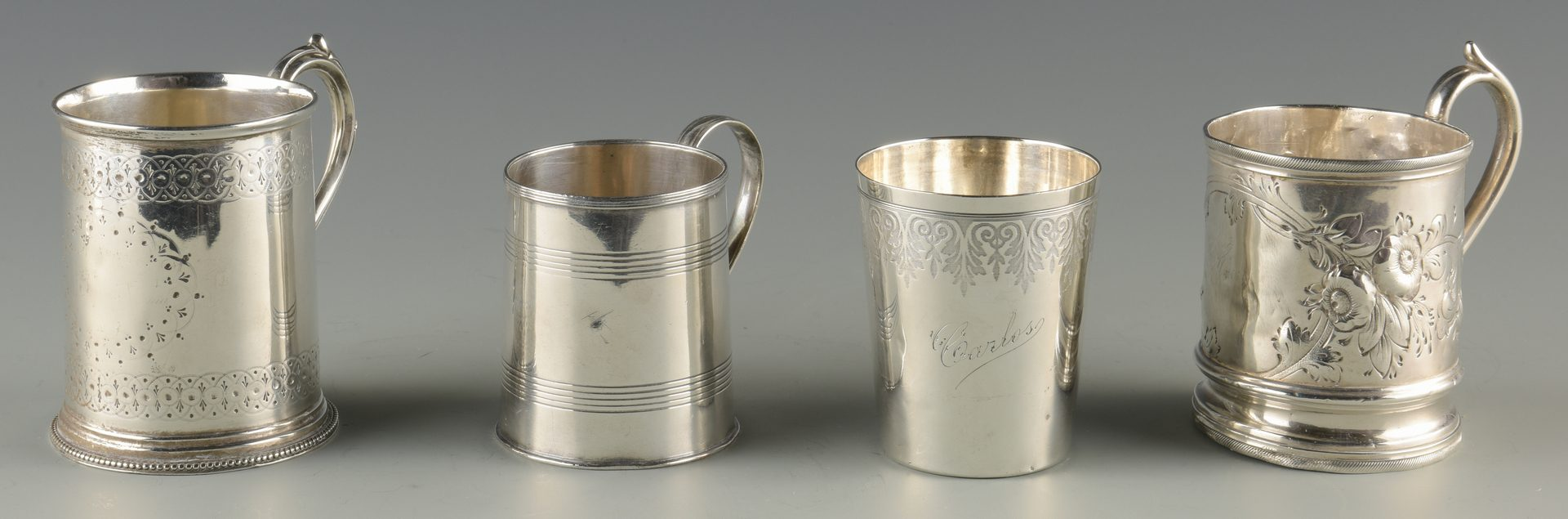 Lot 897: 4 Cups inc. Coin, Sterling, French