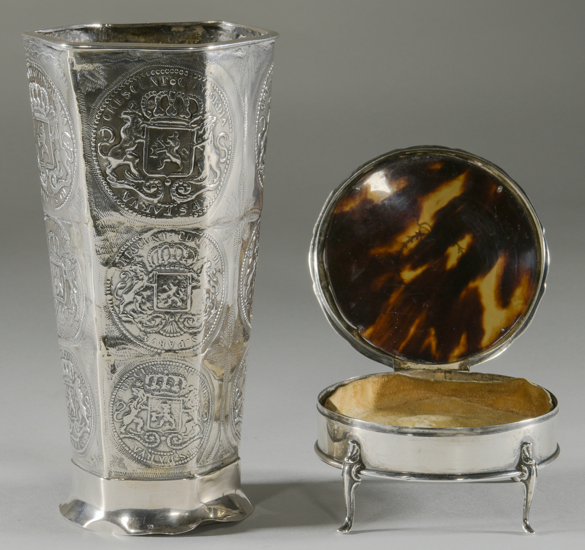 Lot 898 10 Silver Items Inc Vase