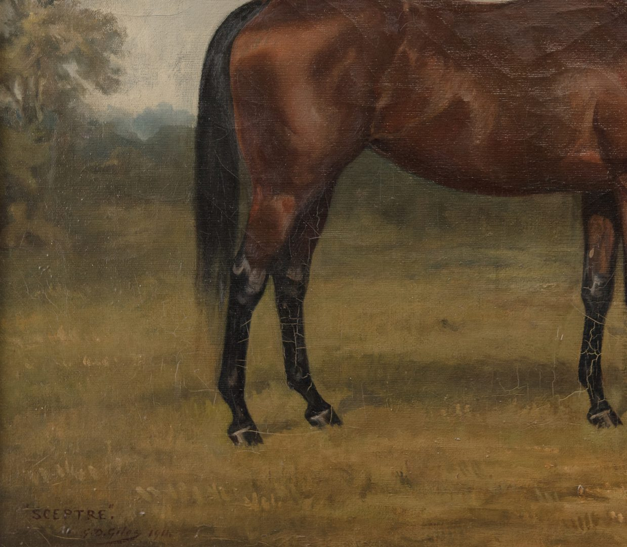 Lot 89: G.D. Giles oil on canvas, Sceptre