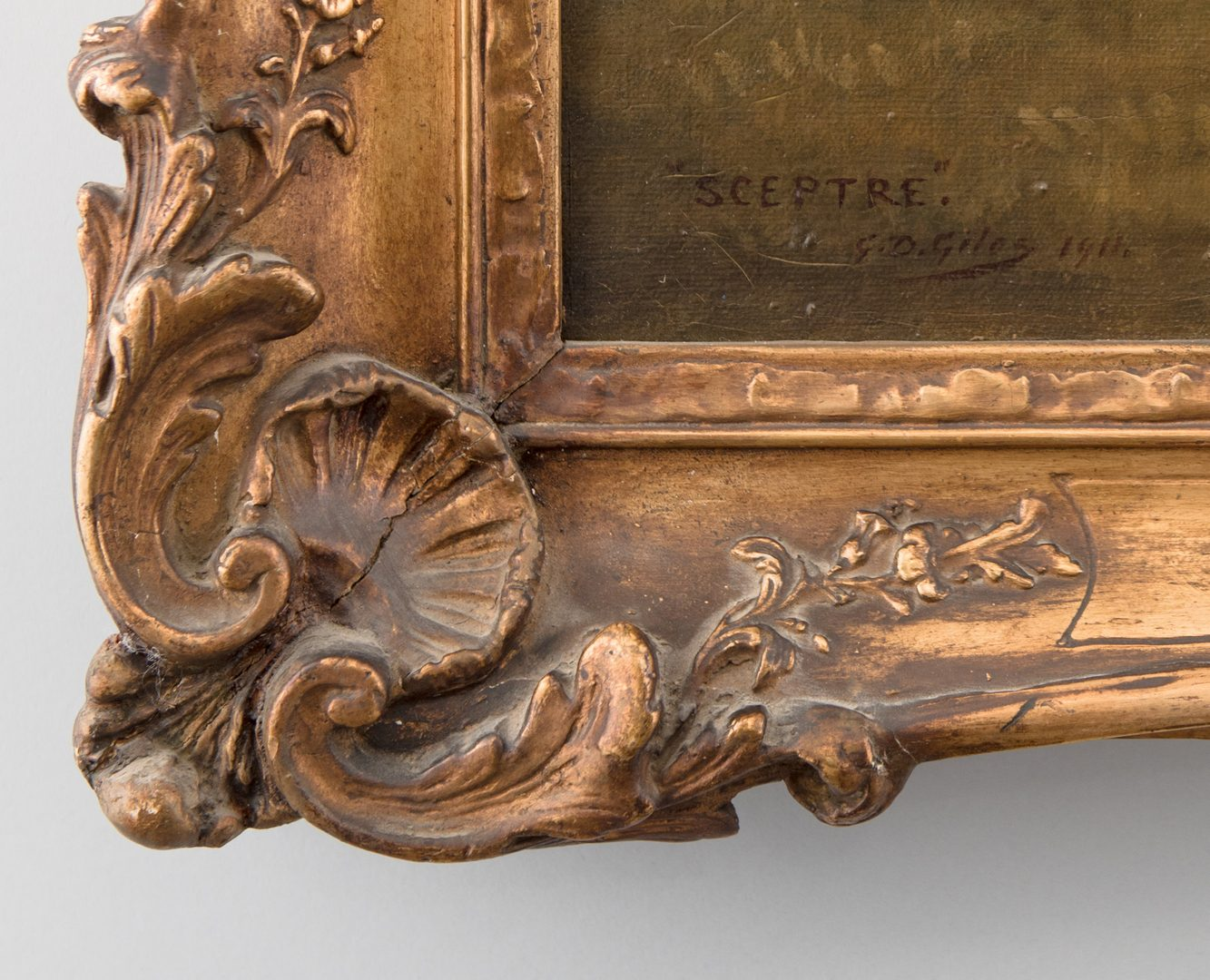 Lot 89: G.D. Giles oil on canvas, Sceptre