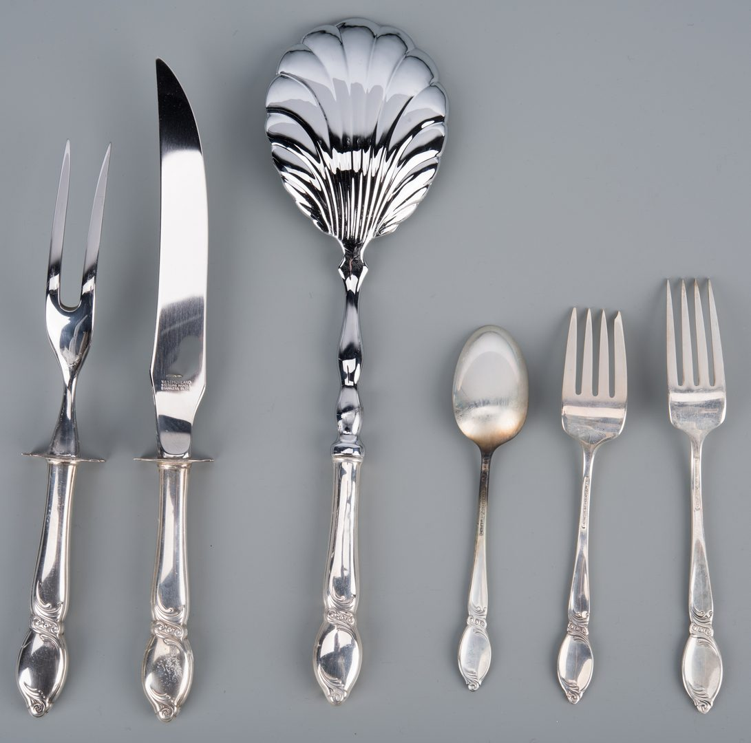 Lot 906: Westmorland Enchanting Orchid Sterling Flatware, 51 pcs