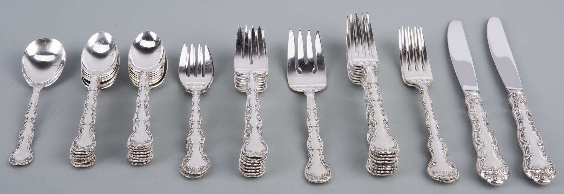 Lot 914: Gorham & Alvin Sterling Flatware, 38 pcs