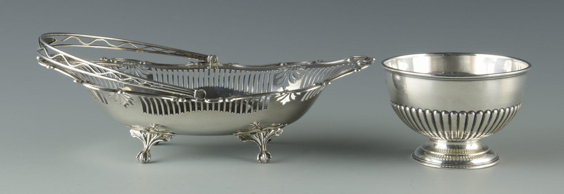 Lot 917: English teapot, basket, & golf bowl