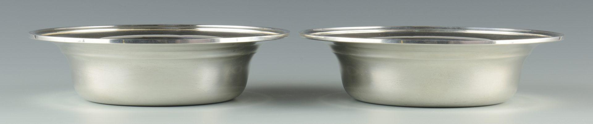 Lot 919: Pair Kirk Sterling Bowls