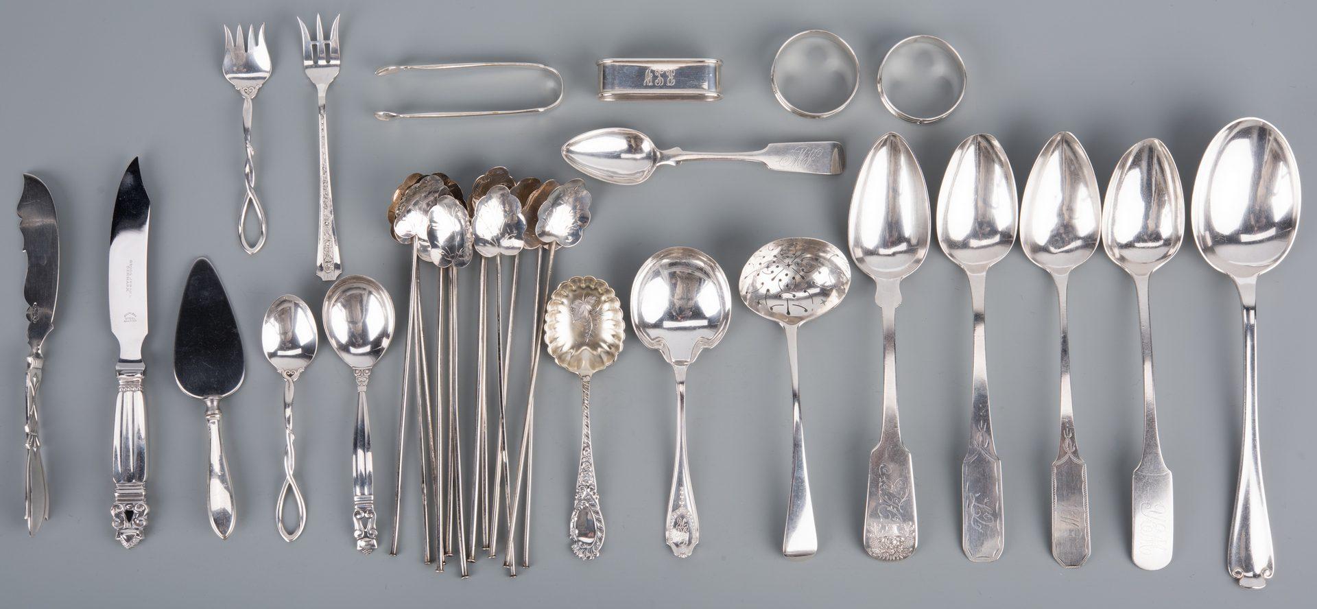 Lot 920: Sterling silver incl Tiffany/Jensen plus NY/NJ coin silver