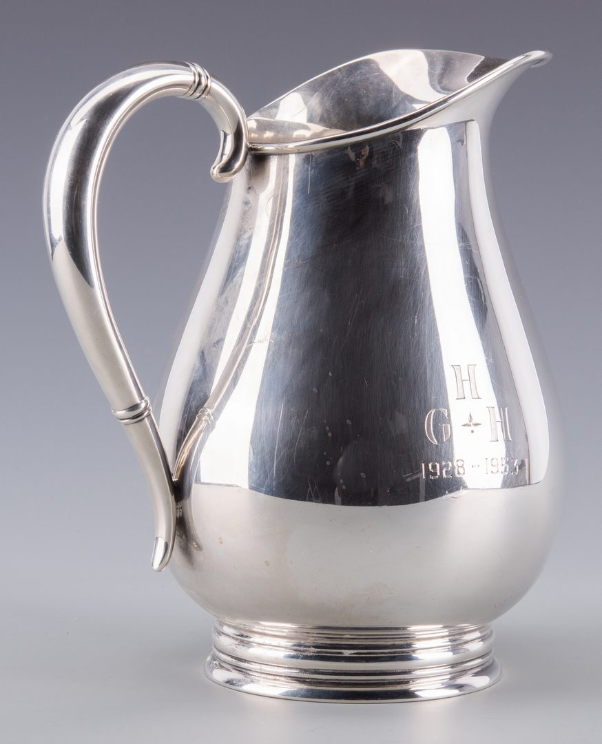 Lot 921: Royal Danish Sterling Water Pitcher