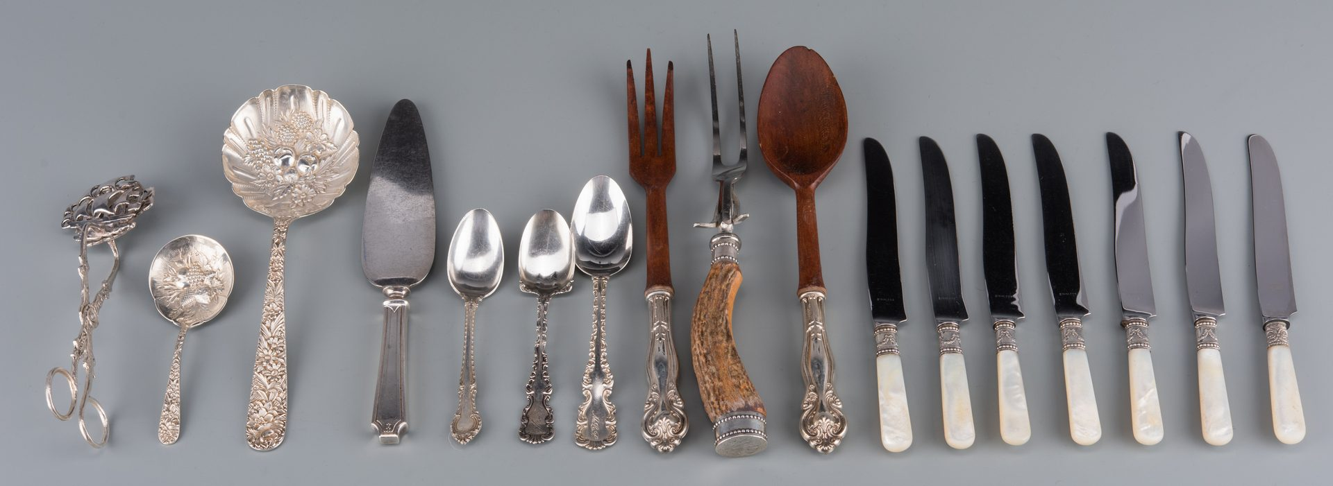 Lot 922: 35 pc. Asst. Sterling Flatware