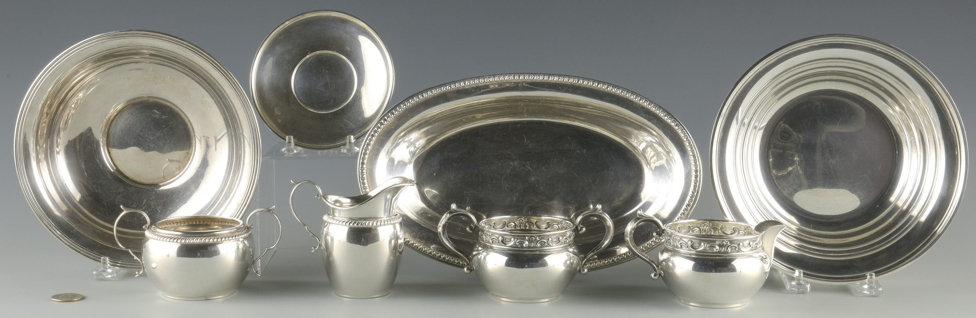 Lot 924: Group Sterling Holloware