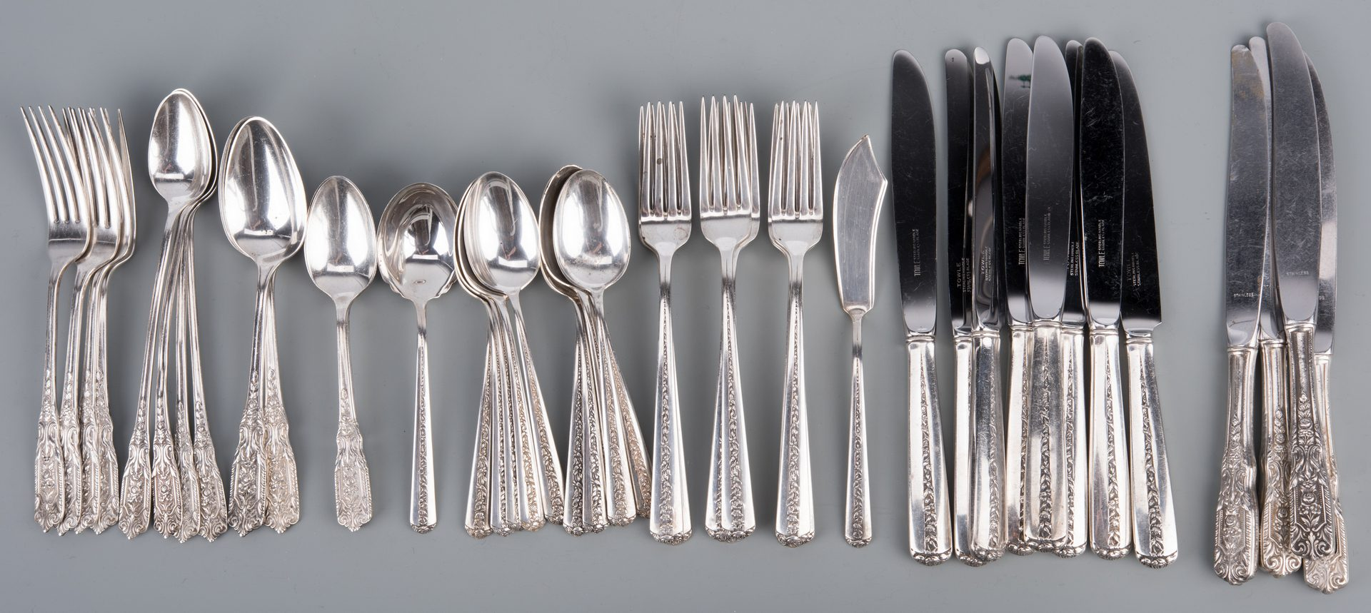 Lot 926: Towle and Westmorland Sterling Flatware