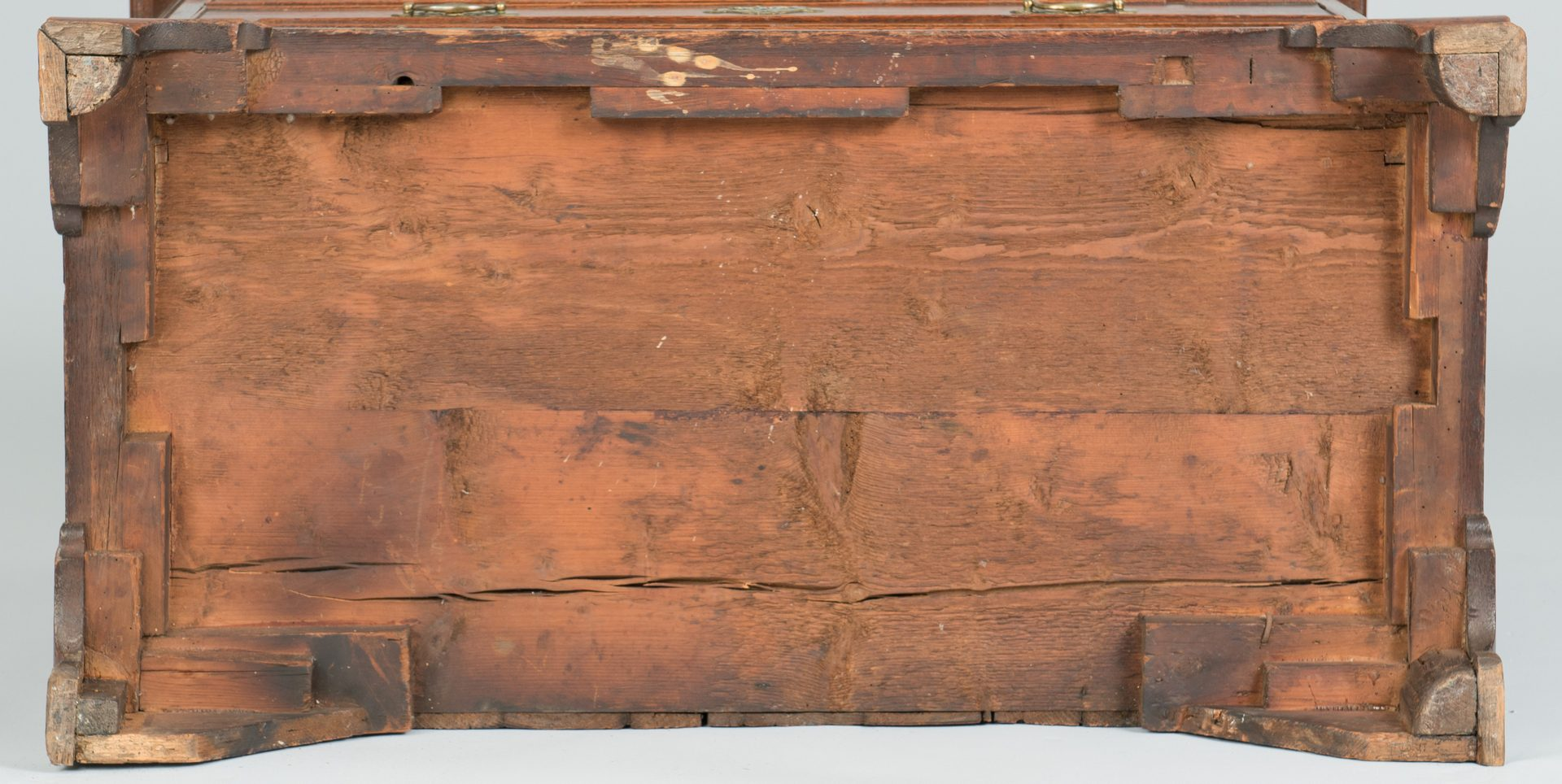 Lot 92: Geo III Oak Chest with Carved Corners