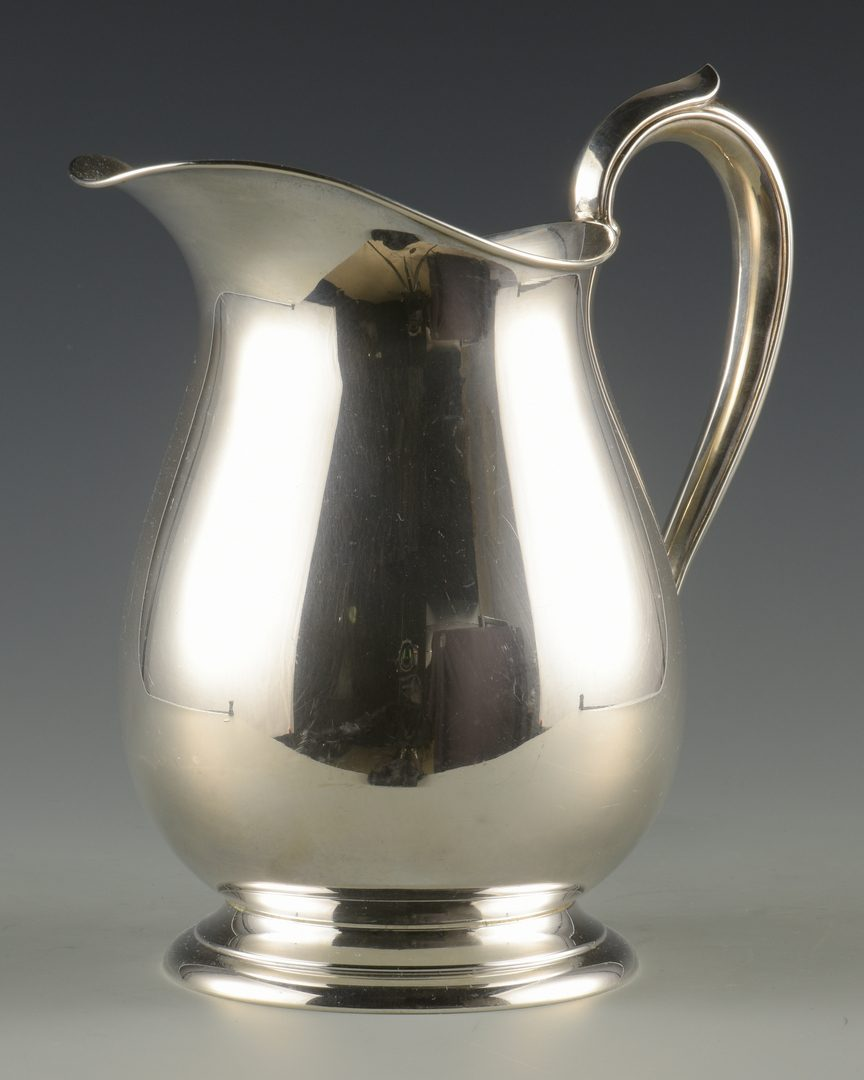 Lot 930: Fisher Sterling Water Pitcher