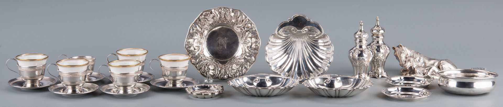 Lot 935: 20 Sterling items inc. Demitasse