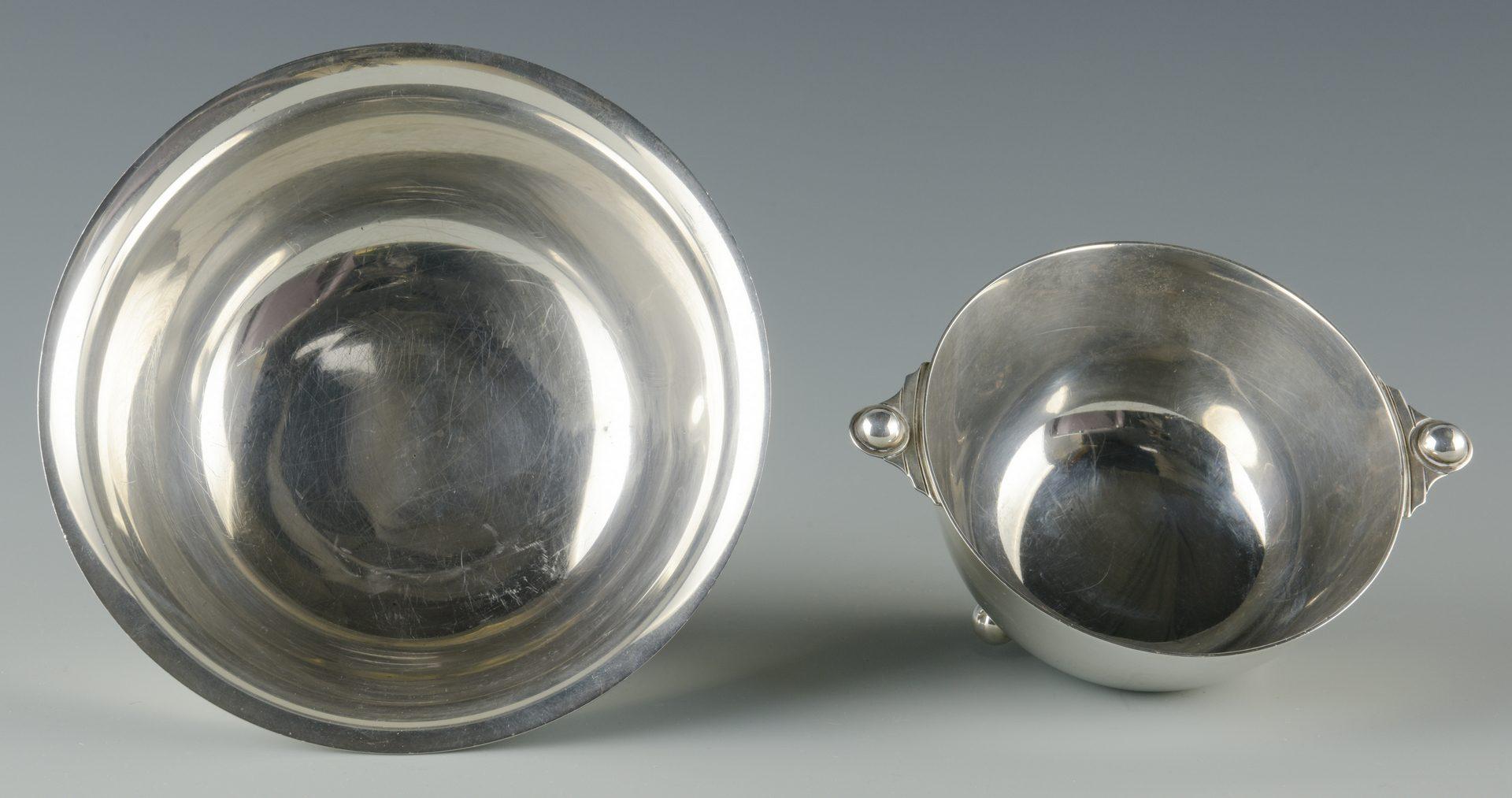 Lot 937: 2 Sterling Silver bowls, incl. Jensen
