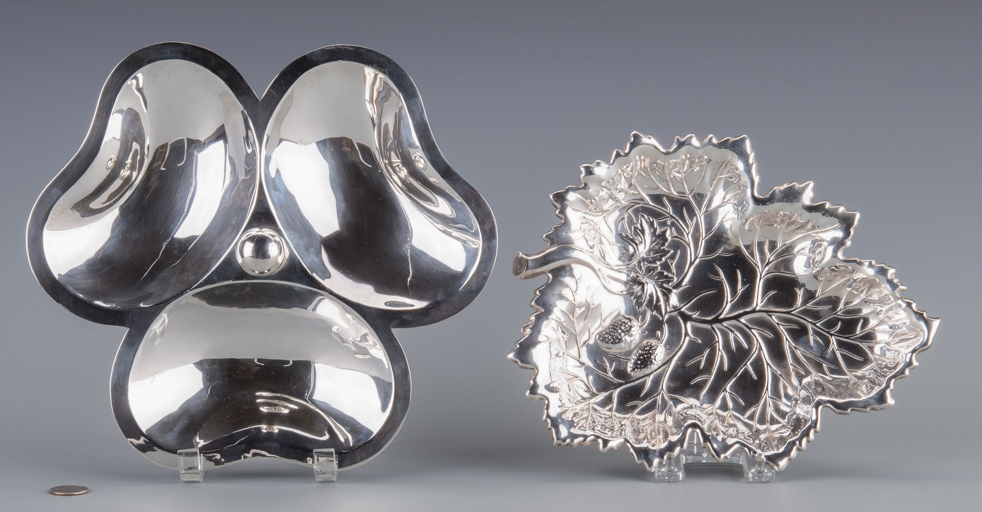 Lot 939: Two Sterling Serving Dishes