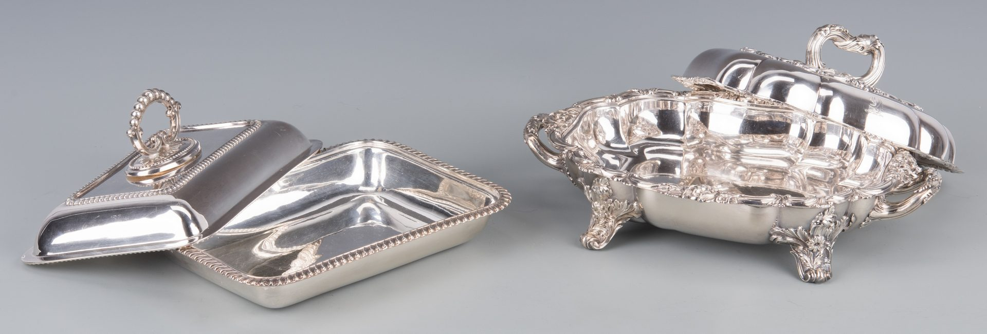 Lot 944: 5 pcs English Silverplated Hollowware