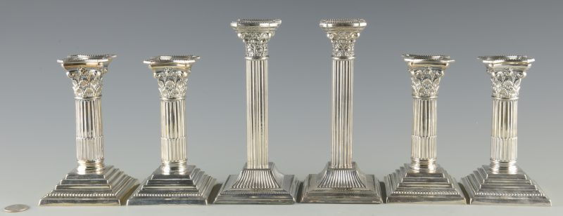 Lot 945: 4 Maupin & Webb Silverplated Candlesticks plus 2 more