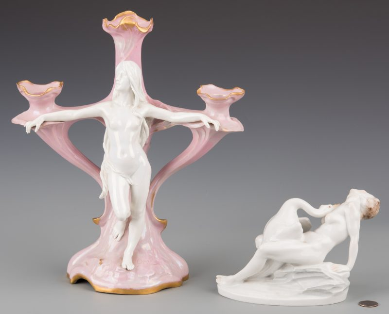 Lot 947: 2 European Porcelain Items